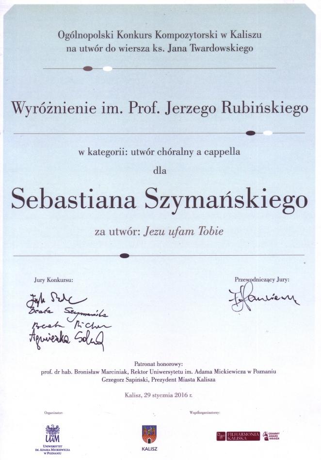 Wyróżnienie prof. Jerzego Rubińskiego (2016).jpg
