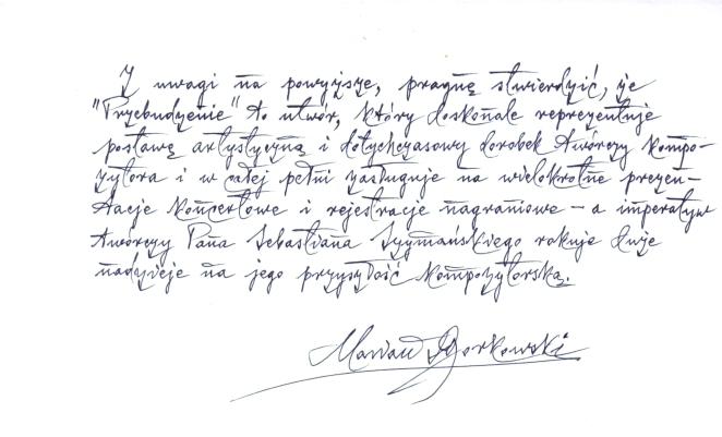 2 opinia prof. zw. dr hab.Marian Borkowski o PRZEBUDZENIE